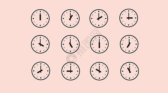 矢量时钟 线性图标图片