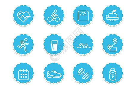 运动健康图标图片