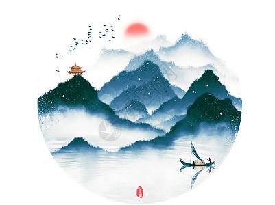中国风水墨山水图片