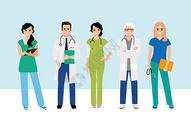 医疗人物背景素材图片