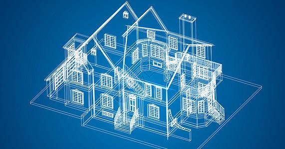 科技线条建筑场景图片