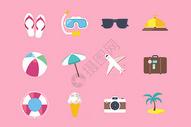 旅游图标元素图片