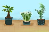 手绘植物素材图片