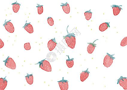 水彩草莓清新背景图片