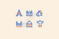 旅游地标建筑类图标图片