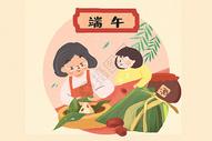 端午节包粽子400157465图片