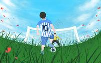 踢足球图片