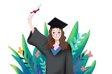 女生毕业照图片