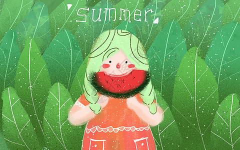 夏日里的西瓜图片