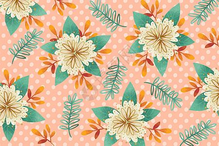 粉色波点花朵背景图片