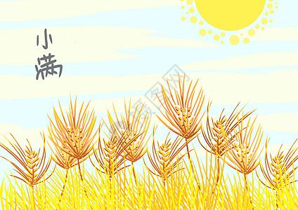 简约中国风二十四节气小满图片