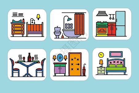 家具背景素材图片