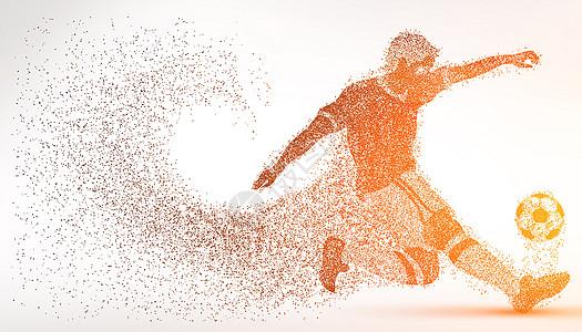 创意足球比赛粒子图片