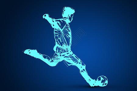 创意足球运动员图片