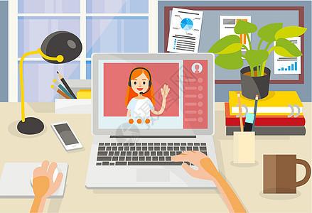 在家上网线上学习课程图片
