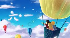 六一儿童节卡通插画图片