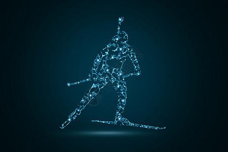 创意滑雪运动人物图片