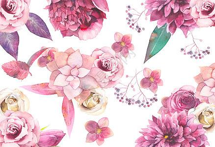 花卉背景元素图片