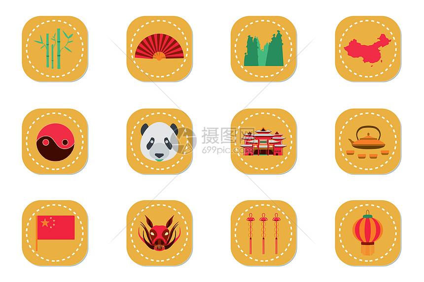 中国风元素图标图片