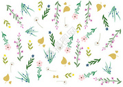 手绘风格植物背景图片
