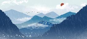 中国山水水墨背景图片