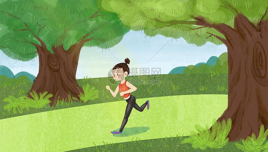 运动女孩图片