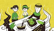 端午节包粽子400160696图片