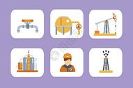工业石油背景素材图片