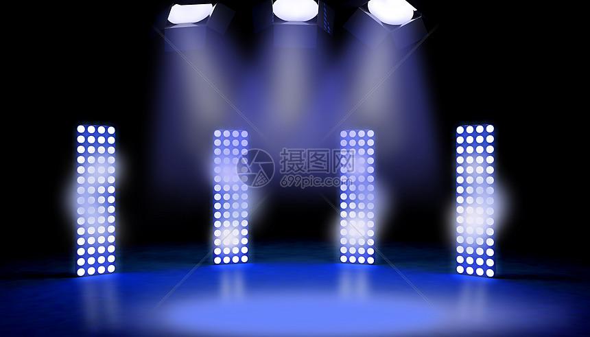 聚光灯舞台场景图片