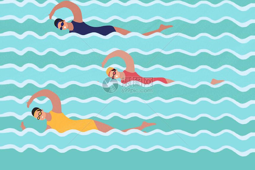 奥林匹克日之游泳竞赛图片