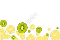 夏季清凉水果二分之一留白背景图片