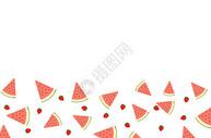 夏季水果二分之一留白背景图片