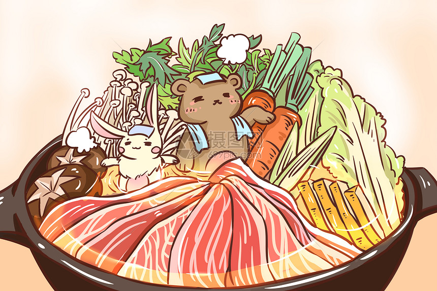 寿喜锅温泉图片