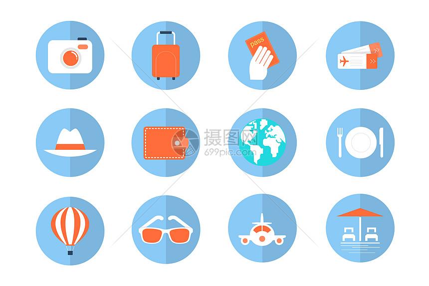 旅行度假图标图片