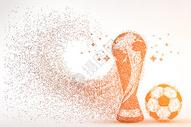 足球与奖杯剪影粒子图片