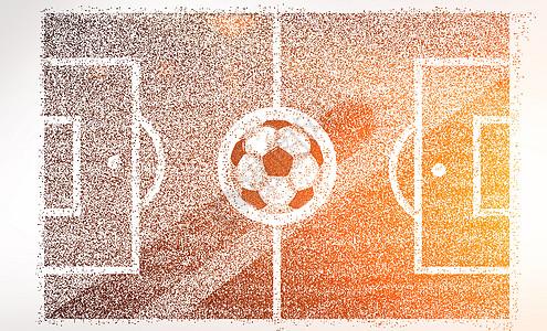 创意足球场剪影粒子图片