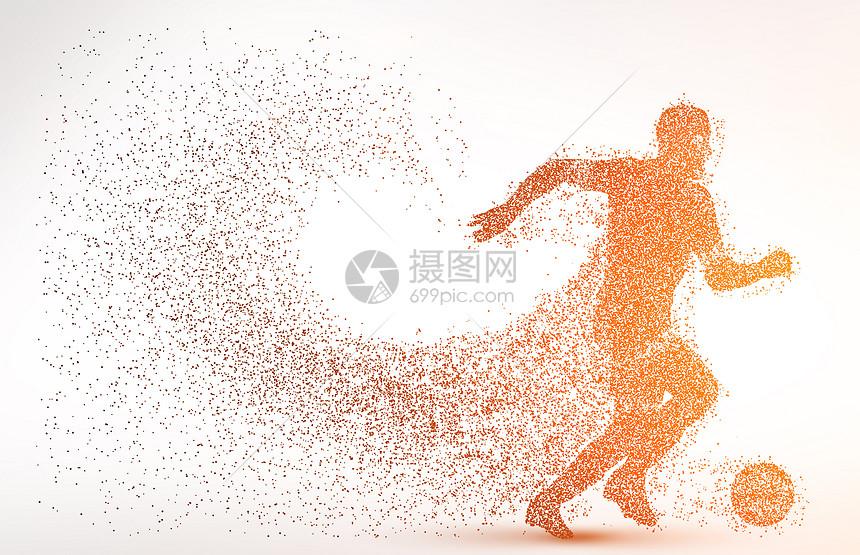 创意足球比赛剪影图片