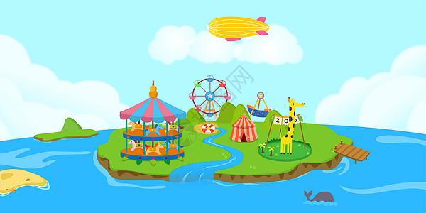 卡通儿童游乐场图片