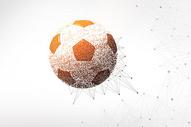 创意足球剪影粒子图片