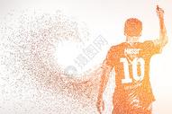 创意10号运动员背影剪影图片