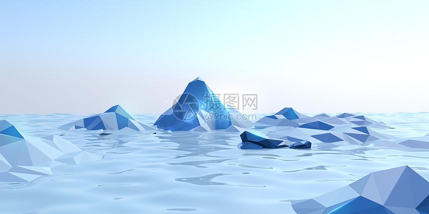 冰爽大海图片