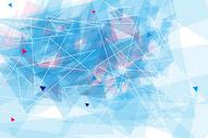蓝色几何抽象背景图片
