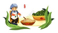 端午节包粽子400161698图片