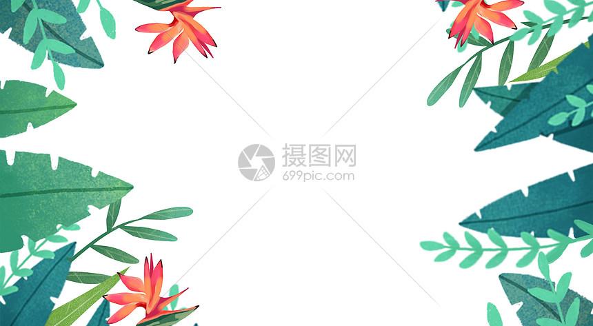 植物电商banner背景图片