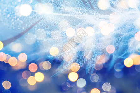 蓝色梦幻光斑背景图片