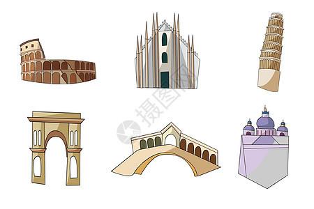 意大利动漫背景素材图片