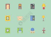 室内装饰家具图标图片