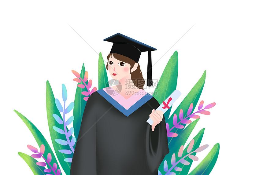 毕业的女生图片