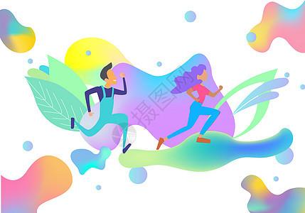 运动健身跑步图片