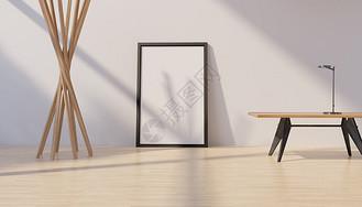 简约画框海报样机图片